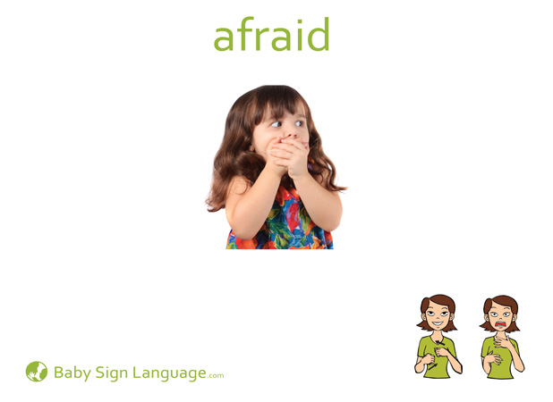 Afraid Baby Sign Language Flash card
