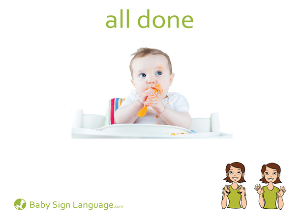 All Done Baby Sign Language Flash card