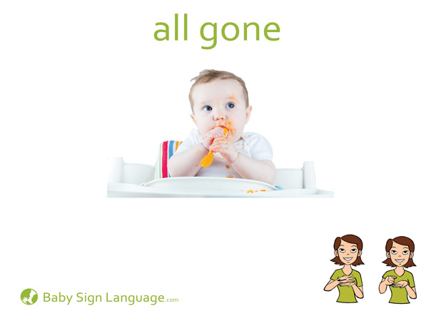 All Gone Baby Sign Language Flash card