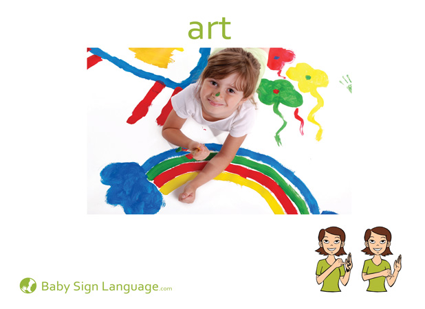 Art Baby Sign Language Flash card