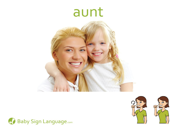 Aunt Baby Sign Language Flash card