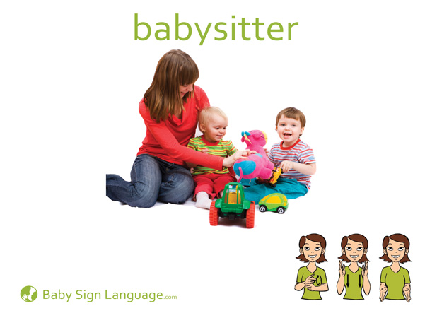 Babysitter Baby Sign Language Flash card