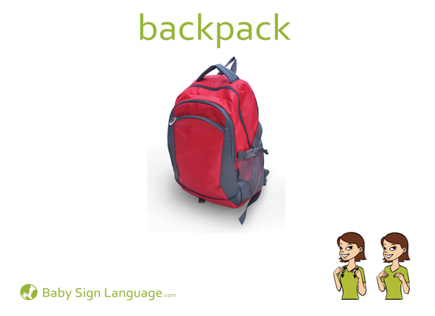 Backpack Baby Sign Language Flash card
