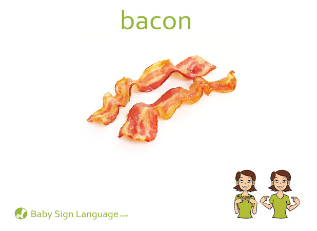 Bacon Baby Sign Language Flash card