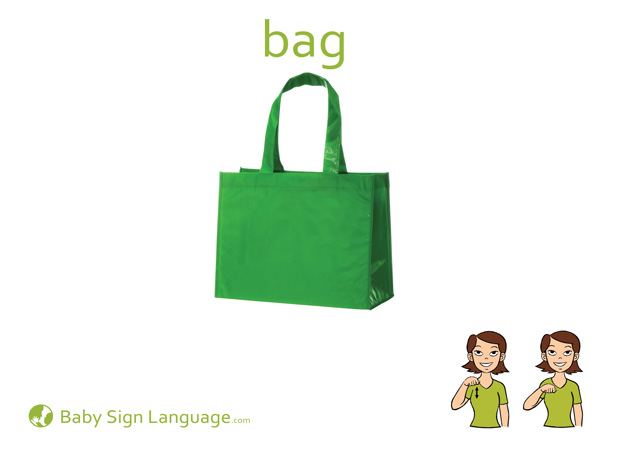Bag Baby Sign Language Flash card