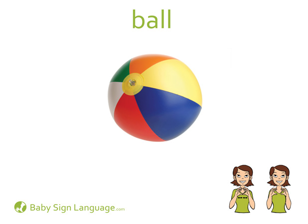 Ball Baby Sign Language Flash card