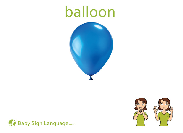 Balloon Baby Sign Language Flash card