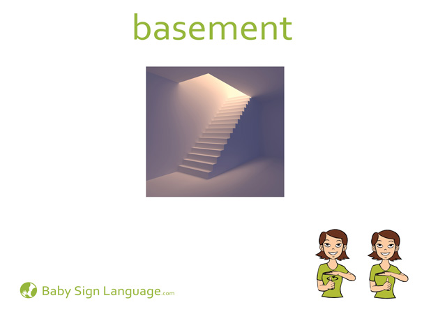 Basement Baby Sign Language Flash card