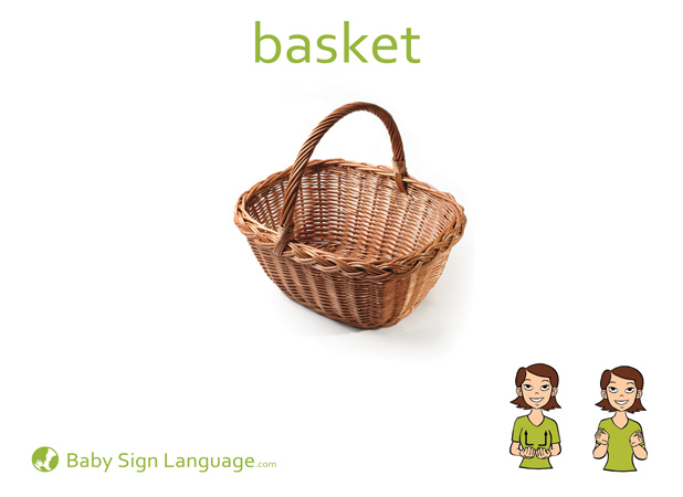 Basket Baby Sign Language Flash card