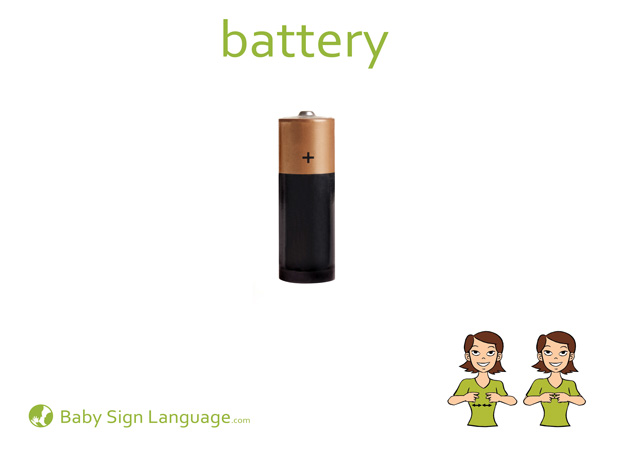 Battery Baby Sign Language Flash card