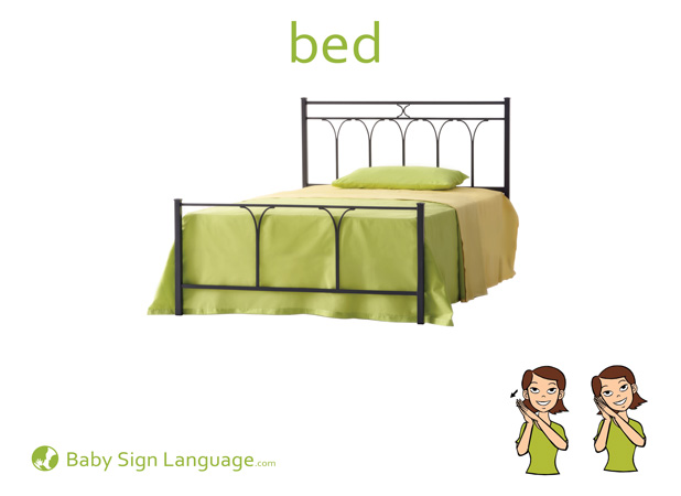 Bed Baby Sign Language Flash card