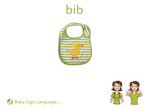Bib Baby Sign Language Flash card