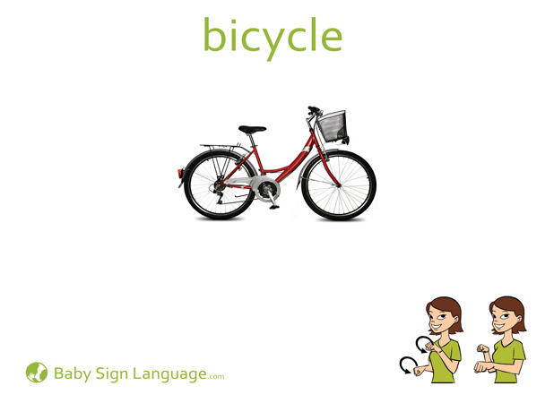 Bicycle Baby Sign Language Flash card