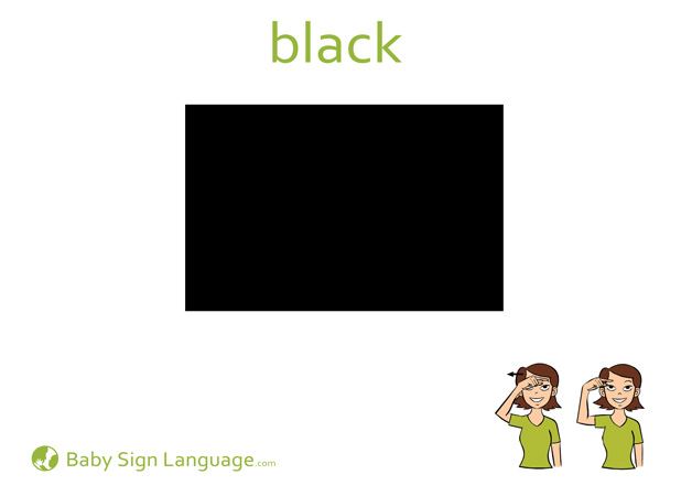 Black Baby Sign Language Flash card