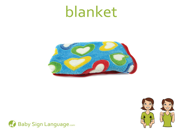Blanket Baby Sign Language Flash card