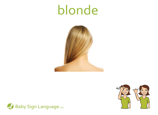Blonde Baby Sign Language Flash card