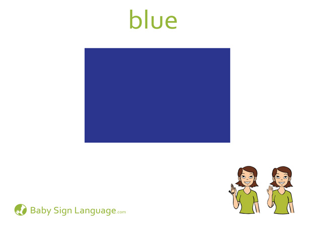 Blue Baby Sign Language Flash card