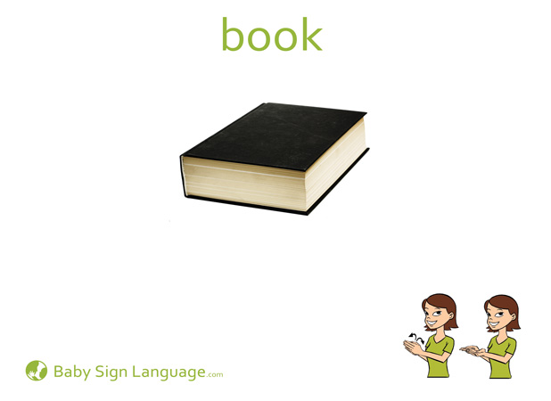 Book Baby Sign Language Flash card