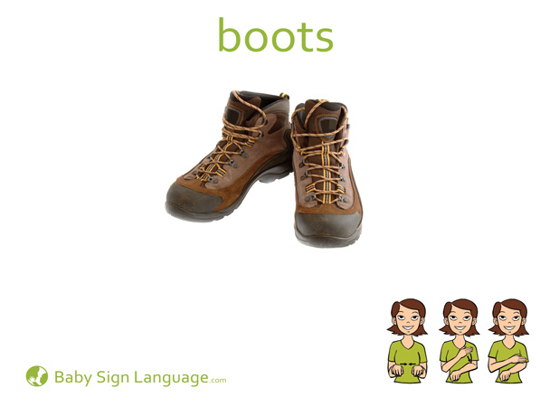 Boots Baby Sign Language Flash card