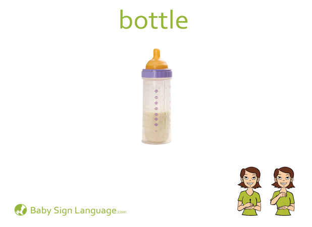 Bottle Baby Sign Language Flash card