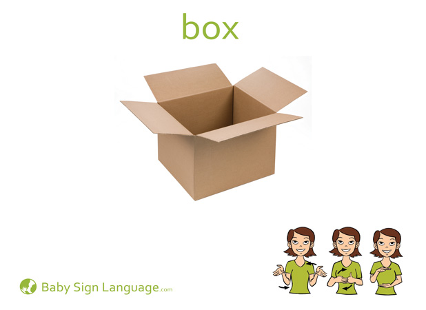 Box Baby Sign Language Flash card