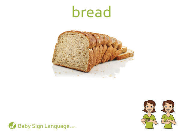 Bread Baby Sign Language Flash card