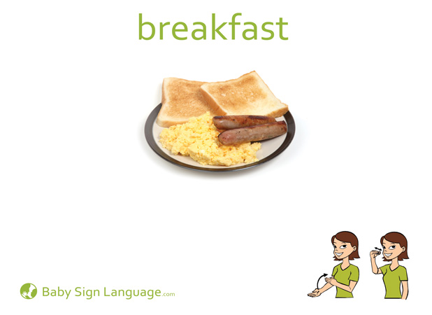 Breakfast Baby Sign Language Flash card
