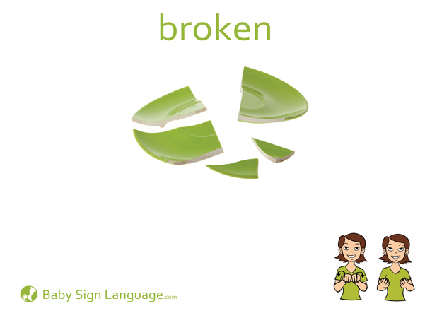 Broken Baby Sign Language Flash card