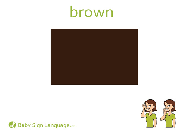Brown Baby Sign Language Flash card