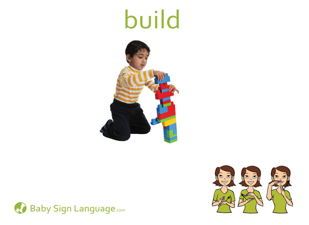 Build Baby Sign Language Flash card
