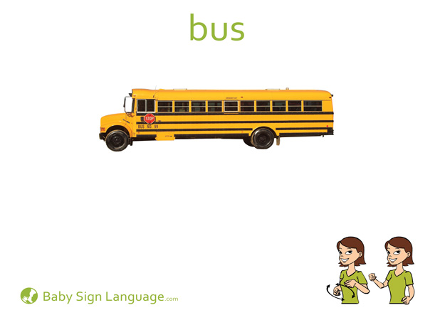 Bus - Car sign language