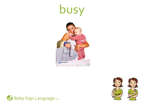Busy Baby Sign Language Flash card