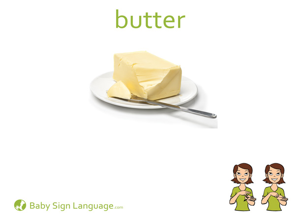 Butter Baby Sign Language Flash card