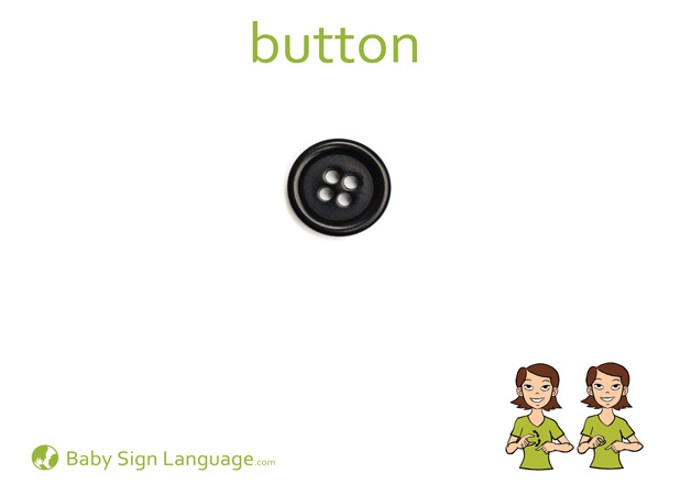 Button Baby Sign Language Flash card