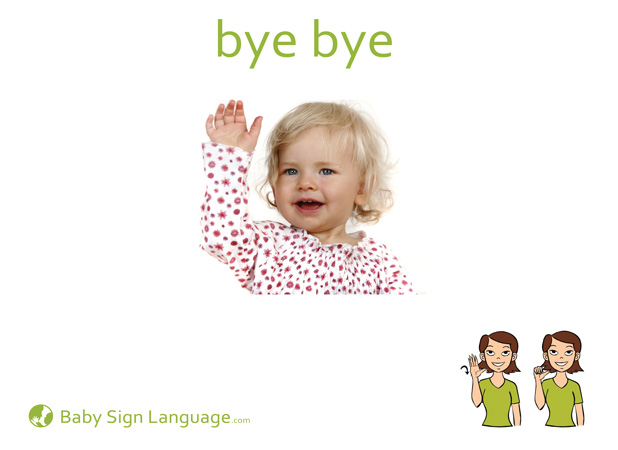 Bye Bye Baby Sign Language Flash card