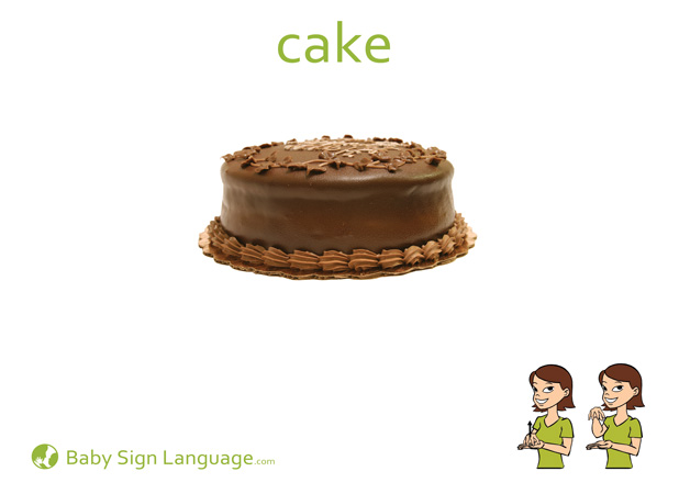 Cake Baby Sign Language Flash card