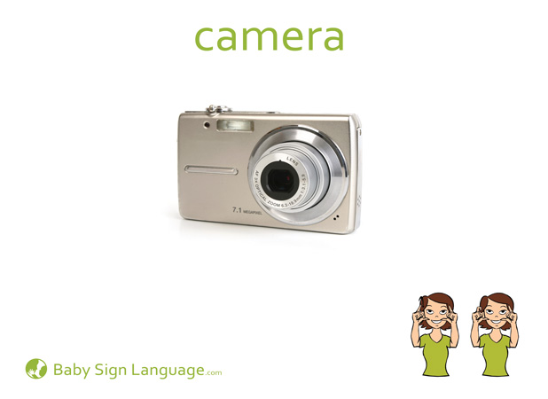 Camera Baby Sign Language Flash card