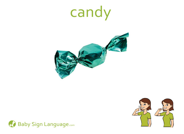 Candy Baby Sign Language Flash card