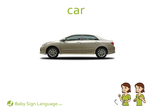 Car Baby Sign Language Flash card