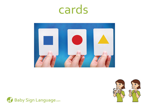 Cards Baby Sign Language Flash card