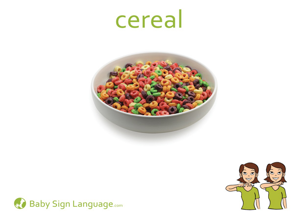 Cereal Baby Sign Language Flash card