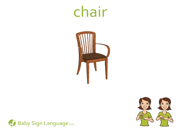 Chair Baby Sign Language Flash card