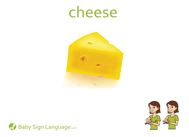 Cheese Baby Sign Language Flash card
