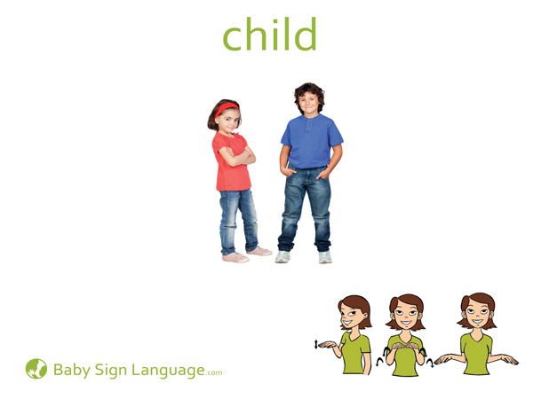 Child Baby Sign Language Flash card