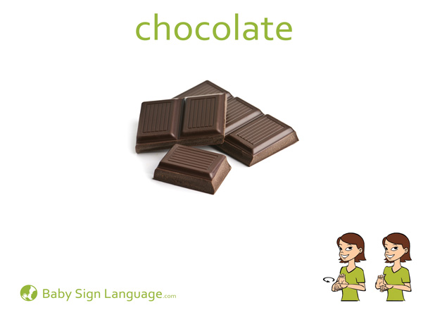 Chocolate Baby Sign Language Flash card