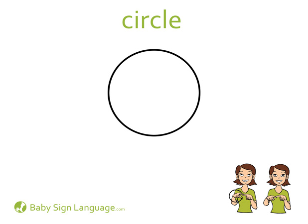 Circle Baby Sign Language Flash card