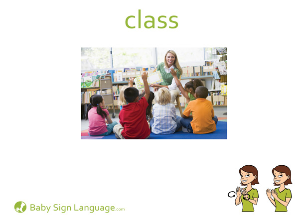 Class Baby Sign Language Flash card