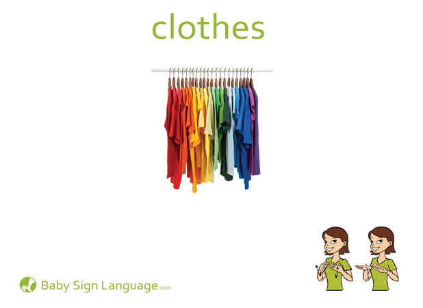 Clothes Baby Sign Language Flash card