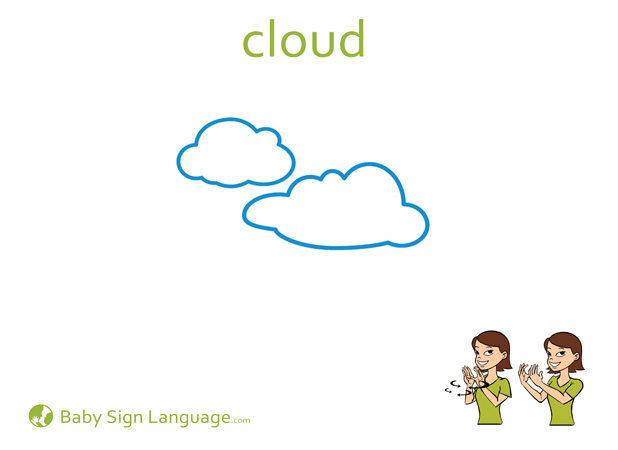 Cloud Baby Sign Language Flash card