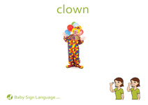 Clown Flash Card Thumbnail